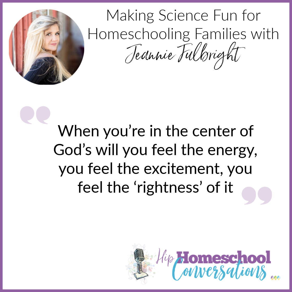 Whether you're a new or experienced homeschooler, in Trish's interview with Jeannie Fulbright you'll find tons of helpful information to increase the joy and wonder of learning science and history at home.