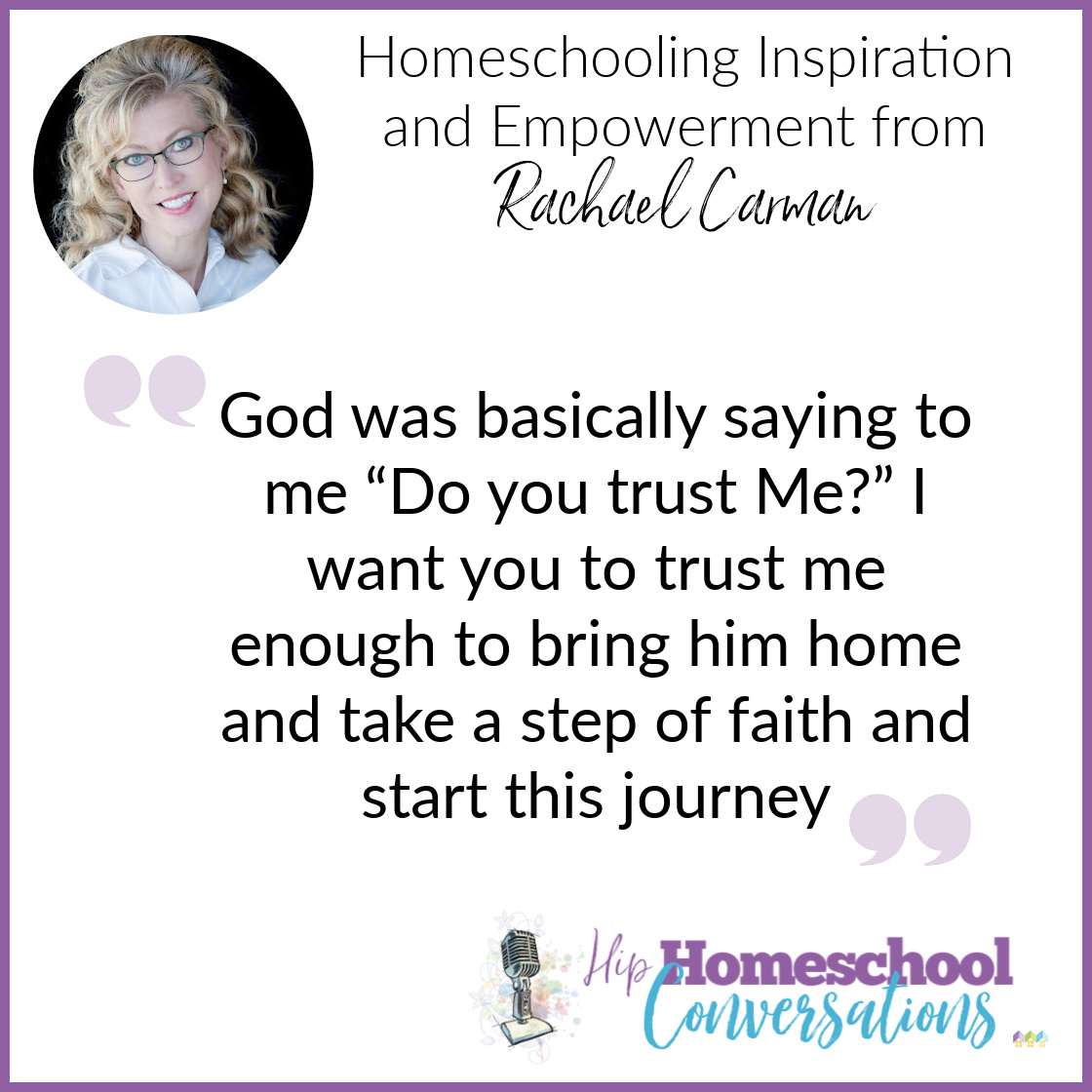 If you have ever felt inadequate to homeschool or just uninterested, join Trish as she interviews Rachael Carman. They discuss everything from butterflies to the Bible in a hilariously funny, truly sincere, and positively encouraging podcast to give Homeschooling Inspiration and Empowerment.