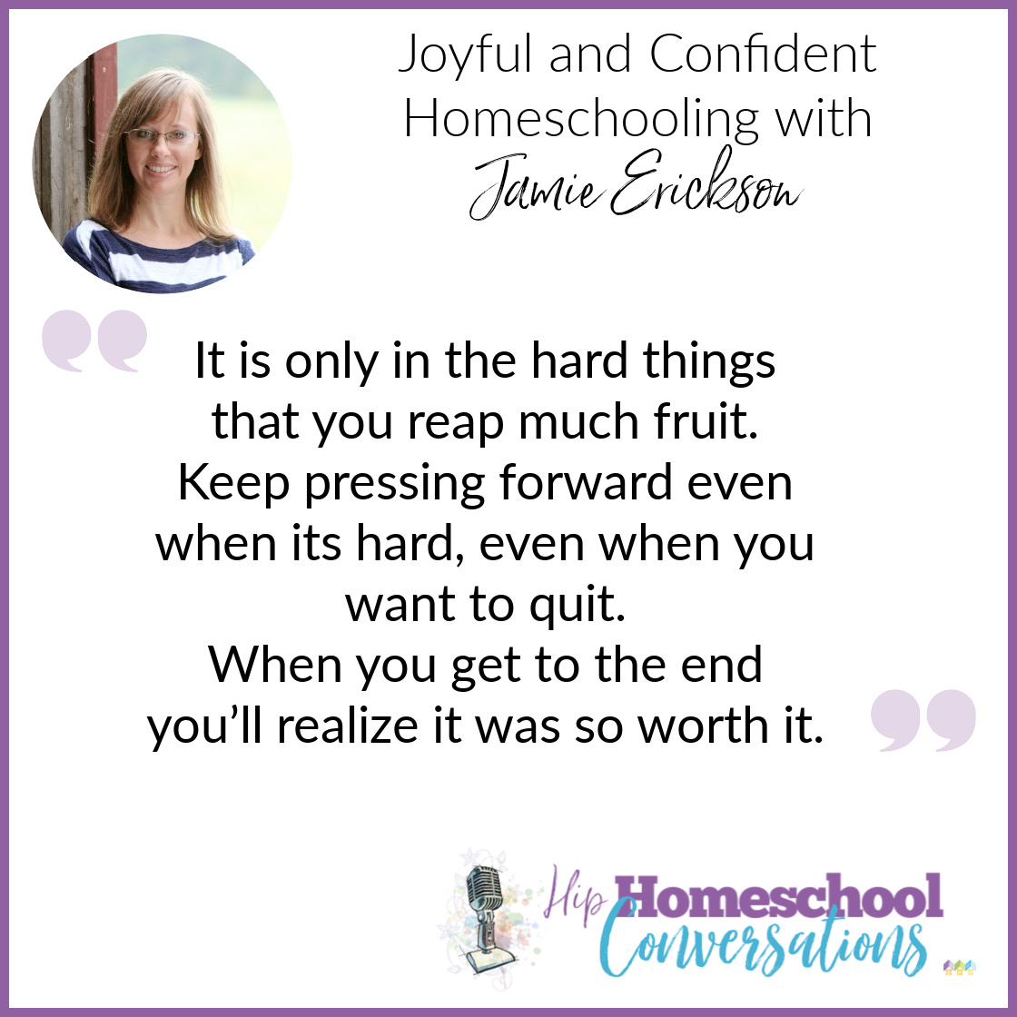 In today's podcast, Trish interviews Jamie Erickson, mom of five, self-proclaimed unlikely homeschooler, and author of Homeschool Bravely. Check out how to do Joyful and Confident Homeschooling with Jamie Erickson.